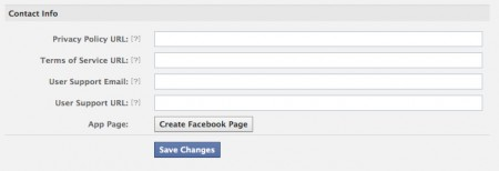 Facebook custom tab advanced settings - create a page