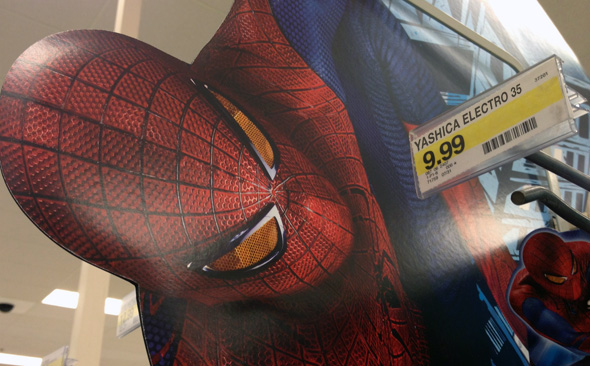 Spiderman discovers an evil plot to buy out all the copies of Yashica Electro 35 film camera.