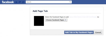 Facebook add page tab